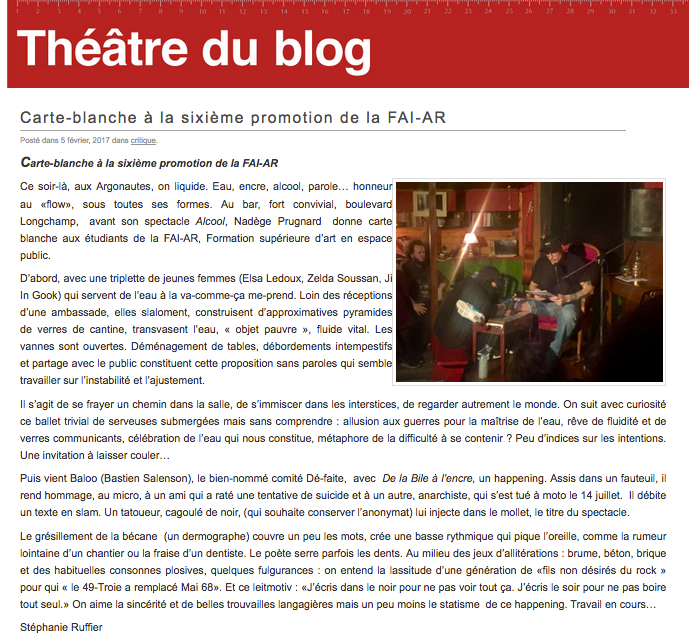 Théâtre du Blog